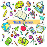 Collection of school subjects. Stock Photo