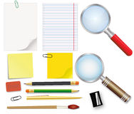 Collection of school supplies Royalty Free Stock Image