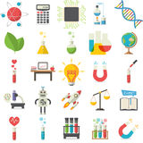 Collection of 25 science illustrations Stock Image