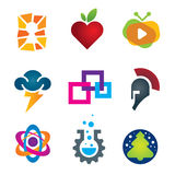 Collection of science innovation warrior symbol design Royalty Free Stock Photos
