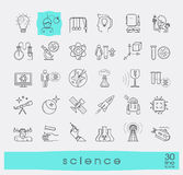 Collection of scientific line icons. Stock Photo