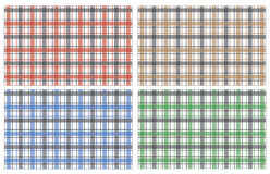 Collection of scottish stylish pattern. Traditional tartar seamless colorful texture, vector illustration Royalty Free Stock Photos