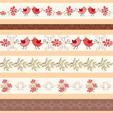 Collection for scrapbook. Borders. Royalty Free Stock Images