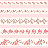 Collection for scrapbook. Borders. Collection floral borders. Vector illustration Stock Images