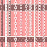 Collection for scrapbook. Borders. Royalty Free Stock Image