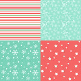 Collection for scrapbook. Red-green seamless 1 Royalty Free Stock Photo
