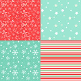Collection for scrapbook. Red-green seamless. Stock Image