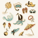 collection of sea beach object Stock Photography