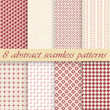 Collection seamless abstract backgrounds Stock Photography