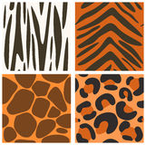 Collection of seamless animals skins textures Stock Photography