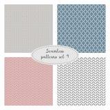 Set of four seamless geometric patterns. vector illustration