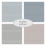 Set of four seamless geometric patterns. Stock Image