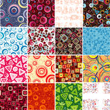Collection seamless backgrounds. Royalty Free Stock Photos