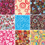 Collection seamless backgrounds. Royalty Free Stock Image