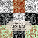 Collection of seamless backgrounds on the topic of abstract Royalty Free Stock Images