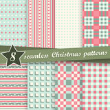 Collection seamless christmas backgrounds. Vector collection of eight seamless christmas backgrounds Stock Images