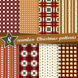 Collection seamless christmas backgrounds. Vector collection of eight seamless christmas backgrounds Stock Photography