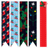 Collection with seamless Christmas patterns. EPS 10 Royalty Free Stock Images