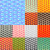 Collection of seamless colorful abstract backgrounds Stock Image