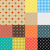 Collection of seamless colorful abstract backgrounds Stock Photography