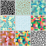 Collection of seamless  colorful background Royalty Free Stock Photography