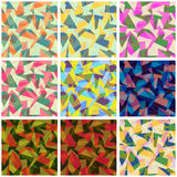 Collection of seamless  colorful backgrounds Royalty Free Stock Images