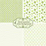 Collection seamless floral backgrounds Stock Images