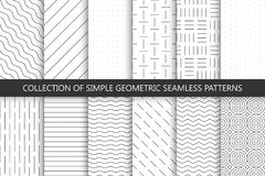 Collection of seamless geometric minimalistic patterns. Collection of seamless geometric minimalistic patterns - swatches stock illustration