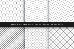 Collection of seamless geometric minimalistic patterns. Collection of vector seamless geometric minimalistic patterns Vector Illustration