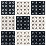 Collection of seamless geometric patterns Stock Photography