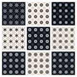 Collection of seamless geometric patterns Royalty Free Stock Photography
