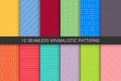 Collection of seamless geometric patterns - bright colorful backgrounds. Collection of seamless geometric patterns - colorful minimalistic backgrounds vector illustration