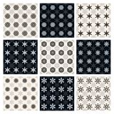 Collection of seamless geometric patterns Royalty Free Stock Images