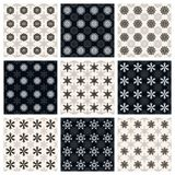 Collection of seamless geometric patterns Stock Photos