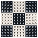 Collection of seamless geometric patterns Stock Photo