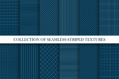 Collection of seamless geometric vector patterns. Striped textures. You can find repeatable backgrounds in swatches panel vector illustration