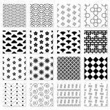 Collection of seamless Japanese patterns. Large set. Geometric vector backgrounds for your design Royalty Free Stock Image