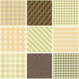 Collection of seamless old patterns Royalty Free Stock Photography