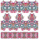Collection of seamless ornamental floral stripes Royalty Free Stock Photography