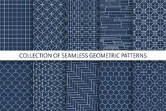 Collection of seamless ornamental vector patterns. Oriental geometric design. You can find repeatable backgrounds in swatches panel stock illustration