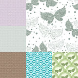 Collection seamless pastel patterns Stock Image
