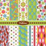 Collection of seamless pattern backgrounds Stock Photos