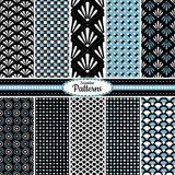 Collection of seamless pattern backgrounds Royalty Free Stock Photos