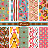 Collection of seamless pattern backgrounds Stock Images