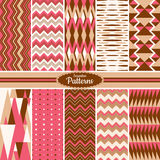 Collection of seamless pattern backgrounds Royalty Free Stock Image