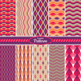 Collection of seamless pattern backgrounds Stock Photography