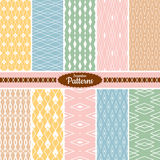 Collection of seamless pattern backgrounds Royalty Free Stock Photo
