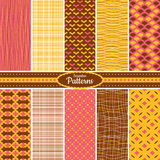 Collection of seamless pattern backgrounds Stock Photo