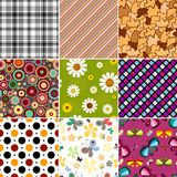 Collection seamless patterns Royalty Free Stock Photos