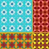 Collection of seamless patterns Stock Images